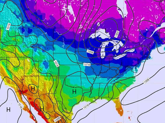 United States Temperature Map